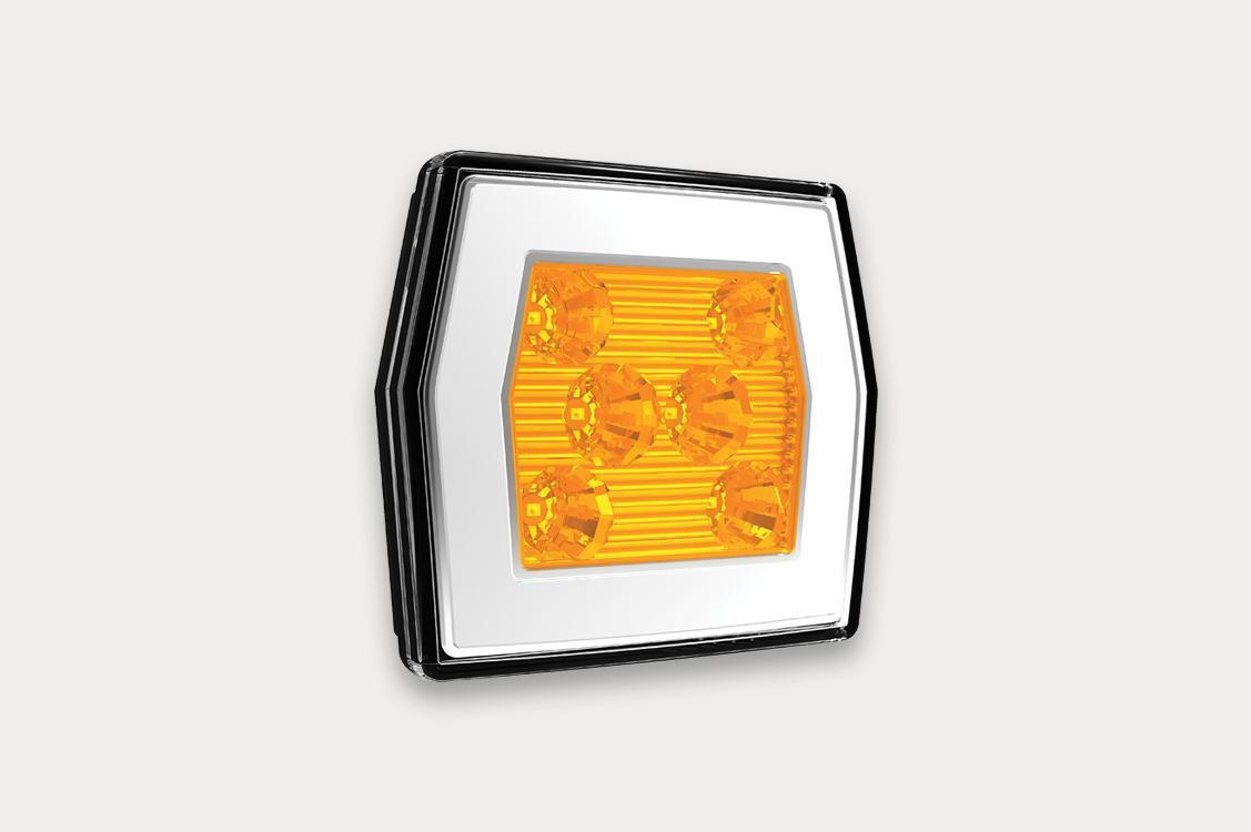 Фонарь передний LED 12-36В, 2-функциональный со светом габаритным, указателем поворота кат.1 и электрическим соединением Bajonet 5PIN. FT125LEDBAJONET